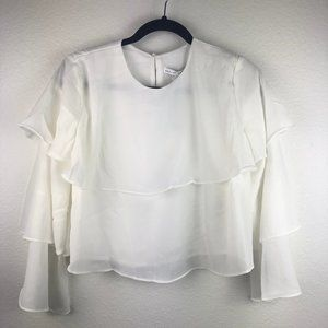 English Factory Tiered Ruffled 3/4 Sleeve Top